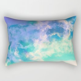 Mountain Meadow Painted Clouds Rectangular Pillow