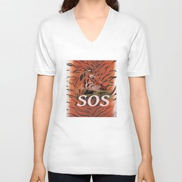 SOS Unisex V-Neck