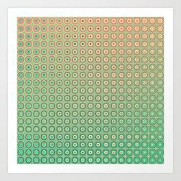 Shiny buttons retro pattern Art Print