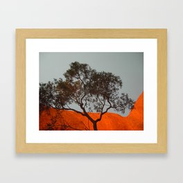 Uluru at sunrise Framed Art Print