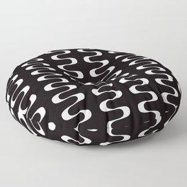 Geometric Pattern 173 (waves) Floor Pillow
