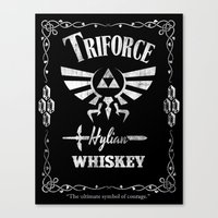 Triforce Whiskey Canvas Print