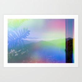 Smoky Mountain Rainbow Magic - Light leaked film photograph Art Print