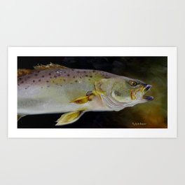 Speckled Trout Study Art Print