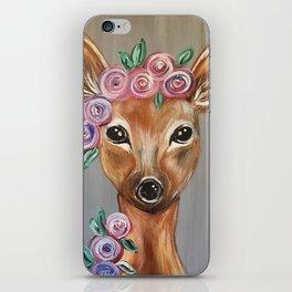 Oh Deer!  Fawn Painting Deer Print iPhone Skin
