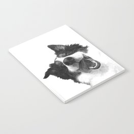 Black and White Happy Dog Notebook