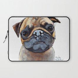 I AM A PUG by Shirley MacArthur Laptop Sleeve