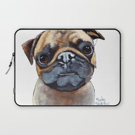 I AM A PUG by Shirley MacArthur Laptop Sleeve