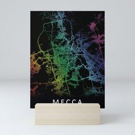 Mecca, Saudi Arabia, City, Map, Rainbow, Map, Art, Print Mini Art Print