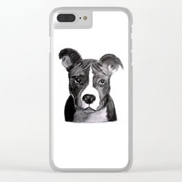 Pit Bull Dogs Lovers Clear iPhone Case