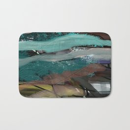 Layered Abstract Sunsets Bath Mat