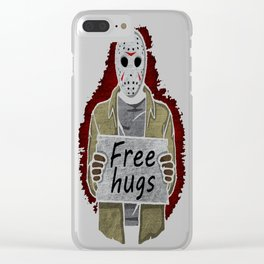 Free Hugs (Jason Voorhees) Clear iPhone Case