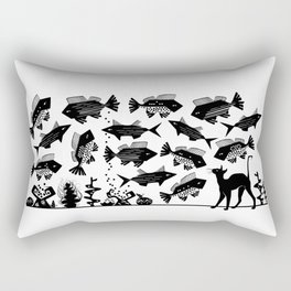 Cat Fish -The Other Side of Eve Rectangular Pillow