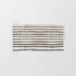 Simply Shibori Stripes Earth Brown on Lunar Gray Hand & Bath Towel