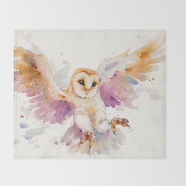 Twilight Owl Throw Blanket