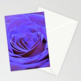 Purple Blue Rose Stationery Cards