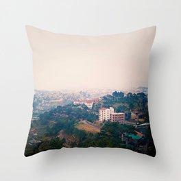 DALAT IN THE FOG Throw Pillow