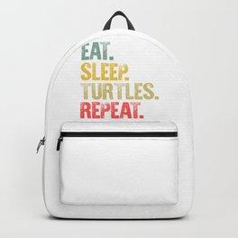 Eat Sleep Repeat Shirt Eat Sleep Turtles Repeat Funny Gift Backpack