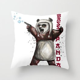 Bass Panda Throw Pillow
