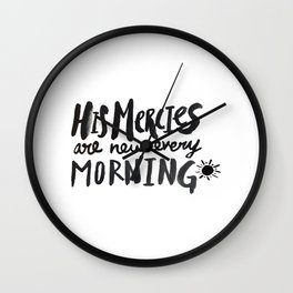 Mercy Morning Wall Clock