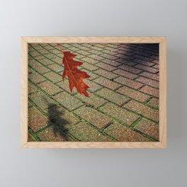 First Leave Of Autumn Framed Mini Art Print