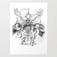 motorbike Art Prints featuring Motorbike. by sonigque