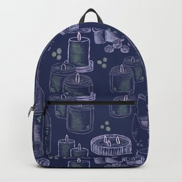 Wine and Candles - blue Backpack