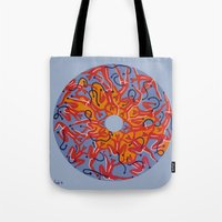 hell Tote Bags featuring Hell by Sandyshow