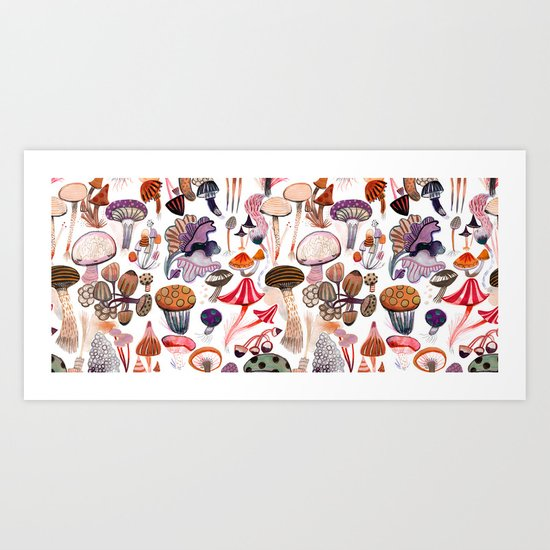 Mushroom Collection Art Print