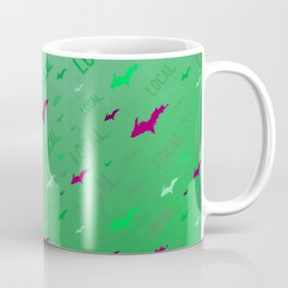 Local Upper Peninsula Of Michigan Watermelon Pattern Coffee Mug