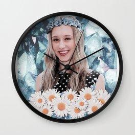 Taissa Farmiga Flower and Crystal Edit Wall Clock