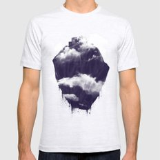Floating City SMALL Mens Fitted Tee Ash Grey