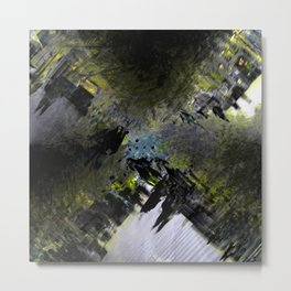 Early morning stroll overlapped with other early morning strollers. Metal Print
