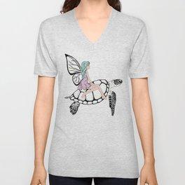 Fairy/ Turtle Unisex V-Neck