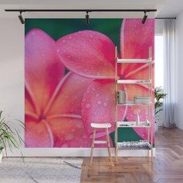 Aloha Hawaii Kalama O Nei Pink Tropical Plumeria Wall Mural