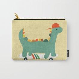 Dinosaur on retro skateboard Carry-All Pouch