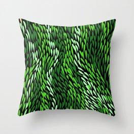 Authentic Aboriginal Art - Grass Throw Pillow
