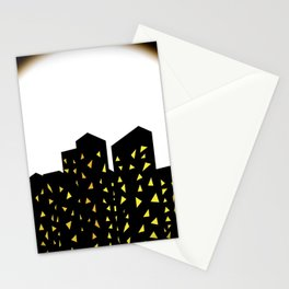 city people dont turn out their lights Stationery Cards