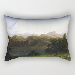 Mount Hood Oregon 1865 1 By Albert Bierstadt | Reproduction Painting Rectangular Pillow
