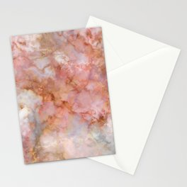 Beautiful & Dreamy Rose Gold Marble Stationery Cards