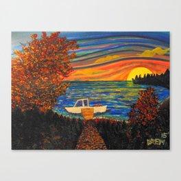 Boat Scene Canvas Print