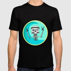 Stoked Up to the Bones Black MEDIUM Mens Fitted Tee