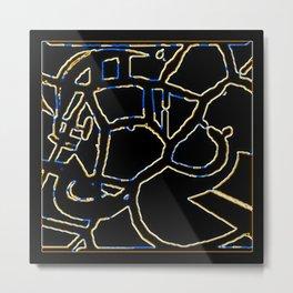 Animal Pattern Abstract Metal Print