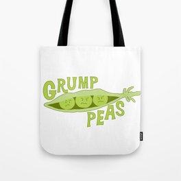 Grumpy Peas Vegetable Pun Tote Bag