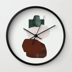 Green square Wall Clock