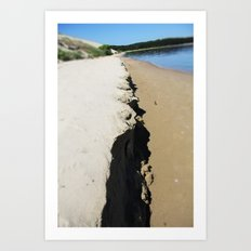 sea ans sand Art Print
