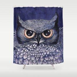 La Sagesse du Hibou (The Blue Owl) Shower Curtain