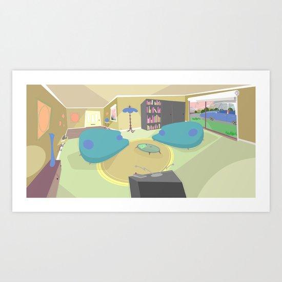 The livingroom Art Print