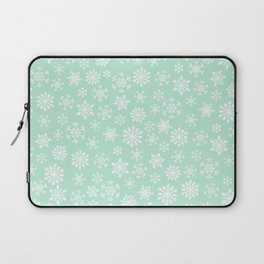 minty snow flakes Laptop Sleeve