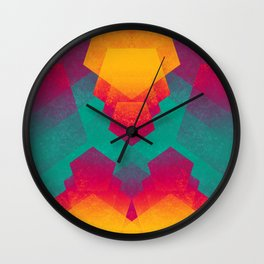 Pentagon Vibrancy Wall Clock